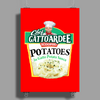 Chef Gattoardee Scoopski Potatoes In Gatto Potato Sauce Poster Print (Portrait)