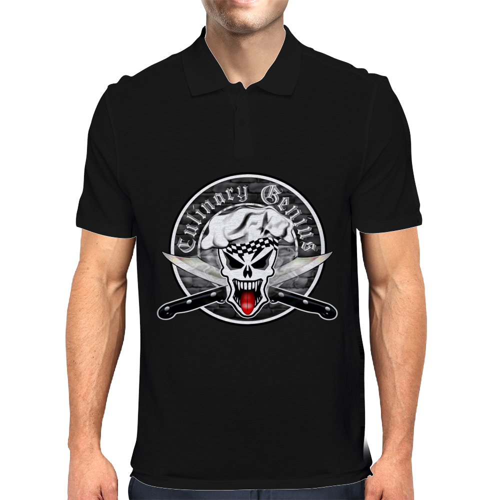 Chef Skull 2.1: Culinary Genius Mens Polo