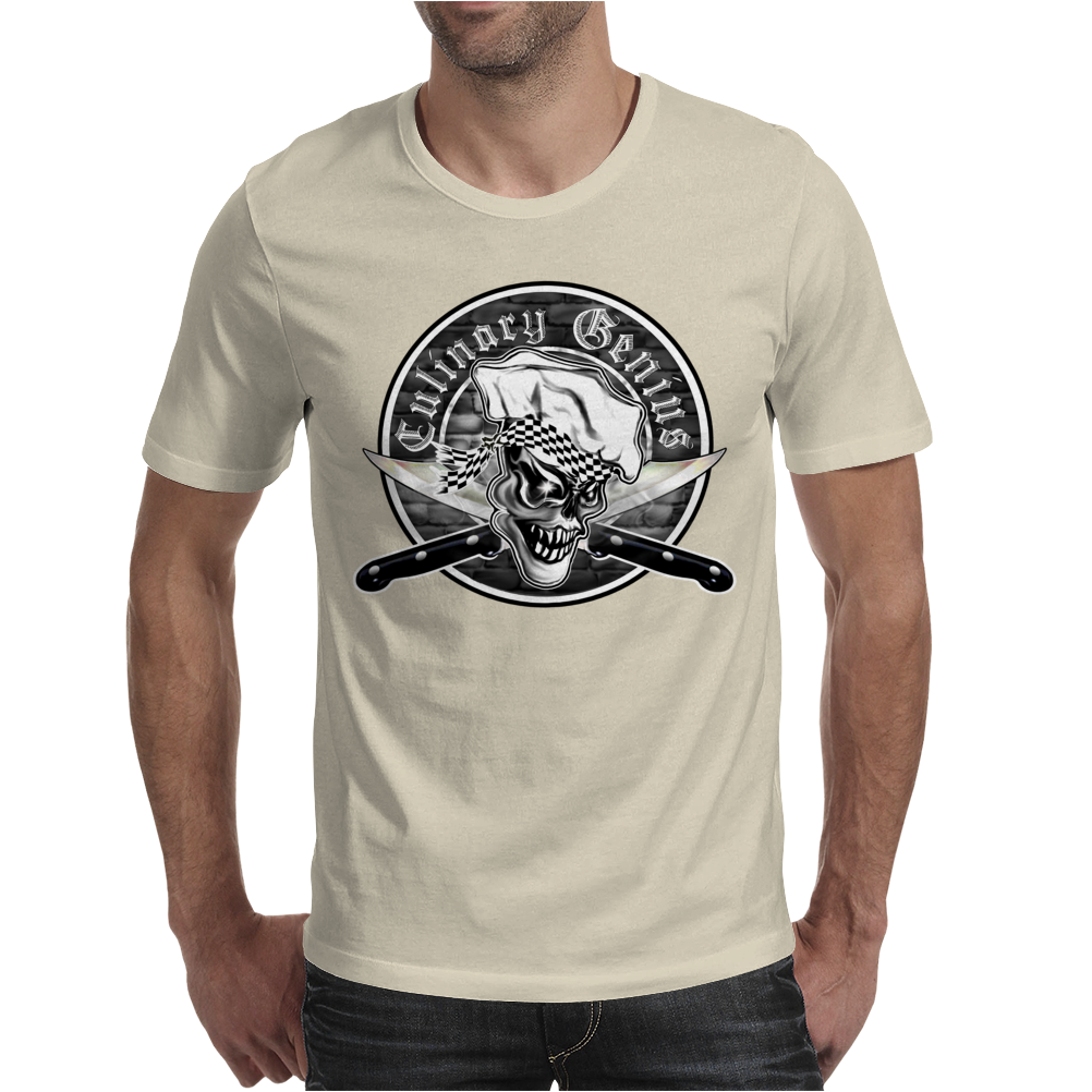 Chef Skull 5: Culinary Genius Mens T-Shirt