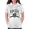 Chef Skull 8: Killer Chef Womens Polo