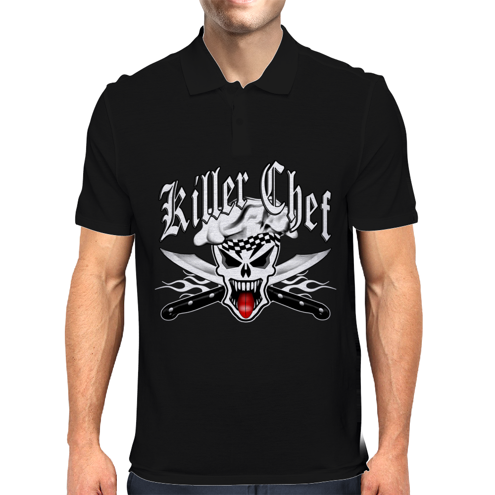 Chef Skull: Killer Chef 2.1 Mens Polo