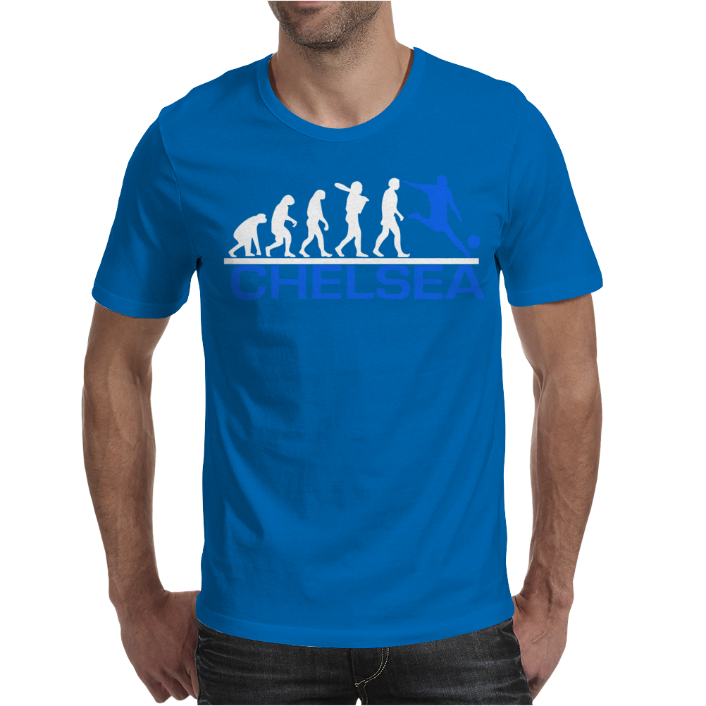 CHELSEA evolution sports football funny Mens T-Shirt