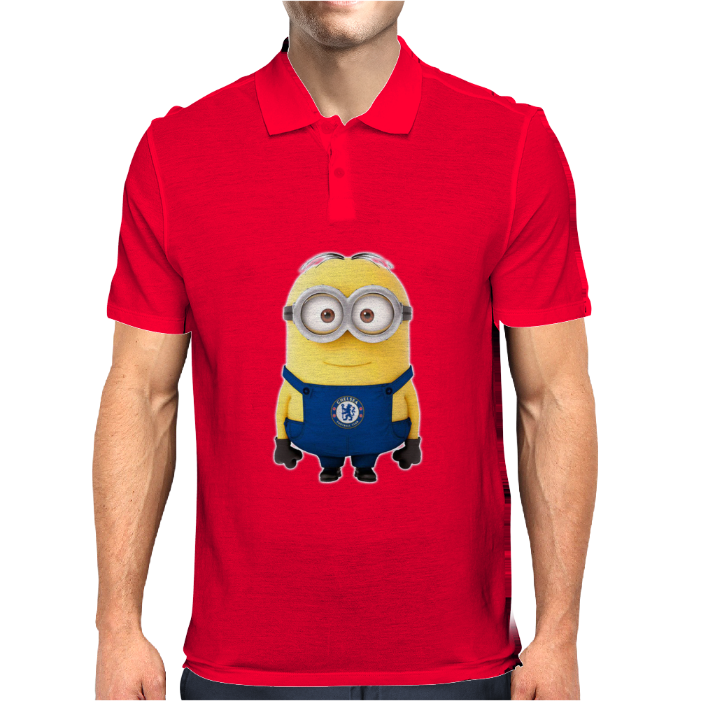 CHELSEA MINIONS Movie Despicable Me Football Funny Mens Polo
