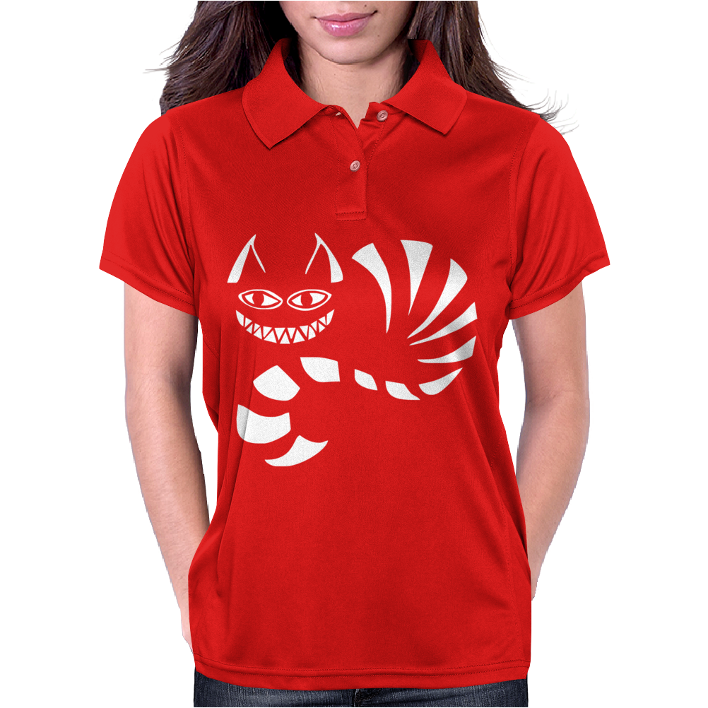 Cheshire Cat Alice In Wonderland Funny Womens Polo