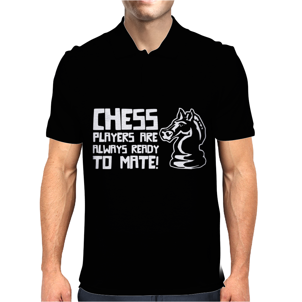 Chess Players Are Always Ready To Mate Mens Polo