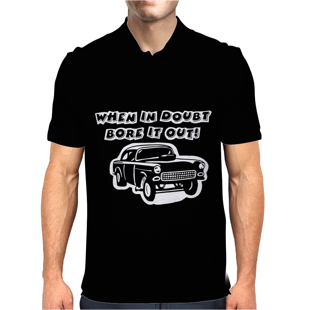 CHEVY GASSER RAT ROD Mens Polo