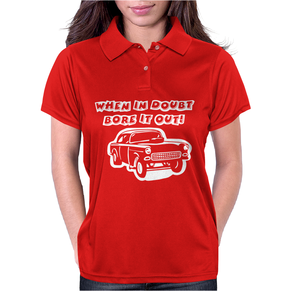 CHEVY GASSER RAT ROD Womens Polo