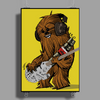 Chewbacca loves his Rebel Bass Poster Print (Portrait)