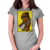 Chewbacca loves his Rebel Bass Womens Fitted T-Shirt