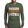 CHICAGO BEARS tee Packers can suck my ditka Mens Long Sleeve T-Shirt