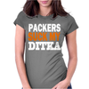 CHICAGO BEARS tee Packers can suck my ditka Womens Fitted T-Shirt