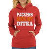 CHICAGO BEARS tee Packers can suck my ditka Womens Hoodie