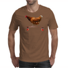 Chicken on Longboard skate Mens T-Shirt
