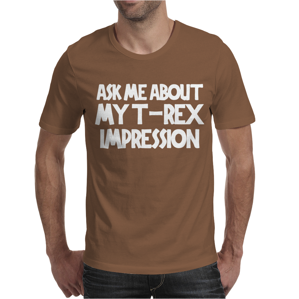 Childrens Ask Me About My T-Rex Flip Mens T-Shirt