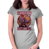 Chilling is my Business Deadpool Womens Fitted T-Shirt