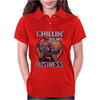 Chilling is my Business Deadpool Womens Polo