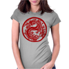 Chinese New Year Dragon Womens Fitted T-Shirt