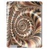 Chocolate Swirl Fractal Tablet (vertical)