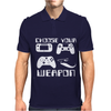 Choose Your Weapon Gamer FINNY RETRO Mens Polo
