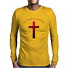 Christian cross Mens Long Sleeve T-Shirt
