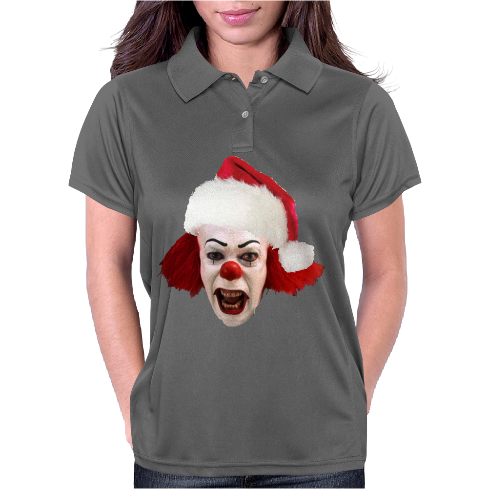 christmas clown Womens Polo