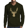 Christmas deer with a red nose Mens Hoodie