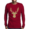 Christmas deer with a red nose Mens Long Sleeve T-Shirt