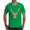 Christmas deer with a red nose Mens T-Shirt