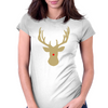 Christmas deer with a red nose Womens Fitted T-Shirt