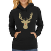 Christmas deer with a red nose Womens Hoodie