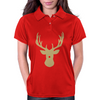 Christmas deer with a red nose Womens Polo