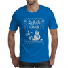 Christmas Funny Dog & Snowman Mens T-Shirt