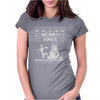 Christmas Funny Dog & Snowman Womens Fitted T-Shirt