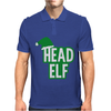 Christmas Head Elf Mens Polo