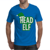 Christmas Head Elf Mens T-Shirt