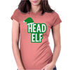 Christmas Head Elf Womens Fitted T-Shirt