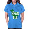 Christmas Head Elf Womens Polo