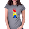 Christmas Minion Womens Fitted T-Shirt