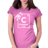Christmas Periodic Table Of Elements Womens Fitted T-Shirt