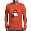 Christmas Pirate Snowman Mens Long Sleeve T-Shirt