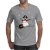 Christmas Pirate Snowman Mens T-Shirt
