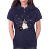 Christmas Pirate Snowman Womens Polo
