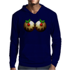 Christmas Pudding Boobs Funny Mens Hoodie