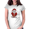 Christmas Santa Womens Fitted T-Shirt