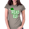 Christmas Santas Elf Womens Fitted T-Shirt