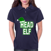 Christmas Santas Elf Womens Polo