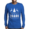 Christmas Scene Reindeer Funny Mens Long Sleeve T-Shirt
