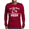 Christmas Shirt It's The Most Wonderful Time For Beer Funny Mens Long Sleeve T-Shirt