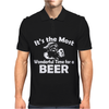 Christmas Shirt It's The Most Wonderful Time For Beer Funny Mens Polo