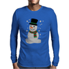 Christmas Snowman Mens Long Sleeve T-Shirt